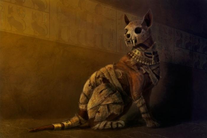 древняя кошка